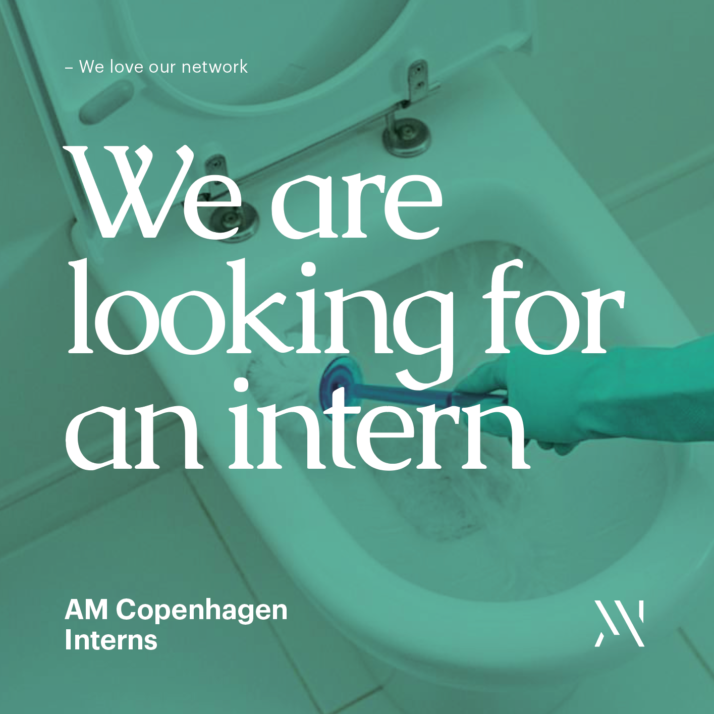 We are looking for an intern — AM — Graphic design studio